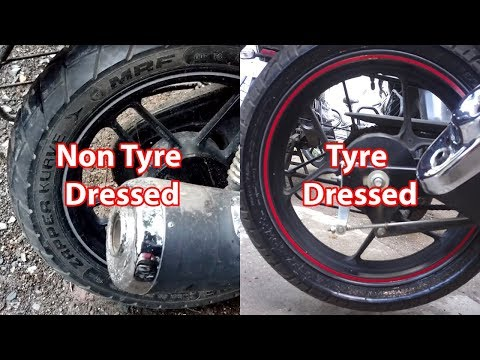 Make your Bike Tyre's look new - Tyre Dressing (Gixxer)