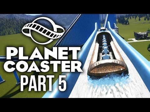 Planet Coaster Gameplay Walkthrough Part 5 - CRAZY LOG FLUME BUILD (Water Log Ride)