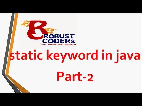 Static keyword in java  | Robust Coders
