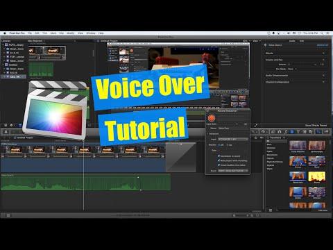 Final Cut Pro X Tutorial - Recording Audio Voice Over