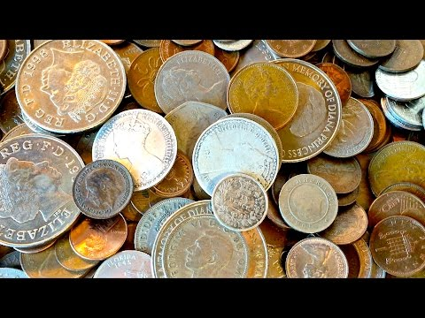 How to get FREE money and silver coins from banks. Coin roll hunting UK