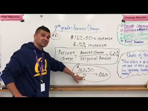 Percent Change equation to find a new amount