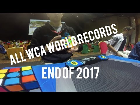 All WCA Rubik's Cube World Records End Of 2017 (Singles)