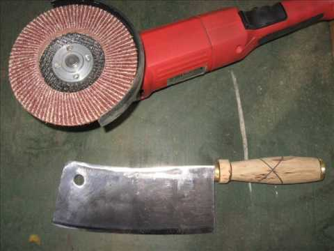 Restoring an Old Rusty Cleaver Made by  Peter Fleuss, Wuppertal, Germany