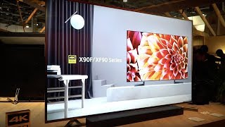 Sony X1 Ultimate Processor, X900F LCD, A8F OLED & 10,000-Nit Display at CES 2018