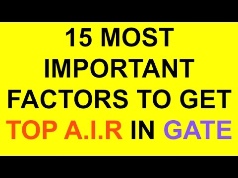 15 MOST IMPORTANT FACTORS TO GET TOP A.I.R IN GATE | MOTIVATIONAL | MUST WATCH