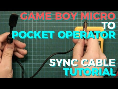 How to make a Game Boy Micro to Pocket Operator sync cable