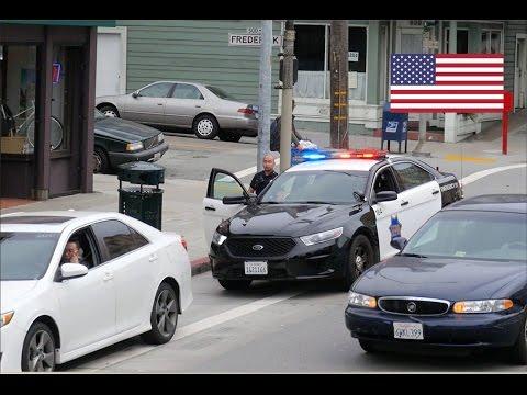 San Francisco Police Ford Taurus Interceptor On Traffic Stops