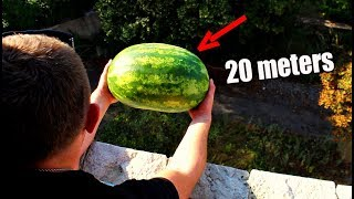 Amazing WATERMELON Experiment! The Magnus Effect!