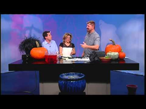 DIY cauldron & bats for Halloween