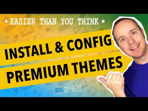 WordPress Theme Install: ThemeForest.net Premium Wordpress Theme   WP Learning Lab