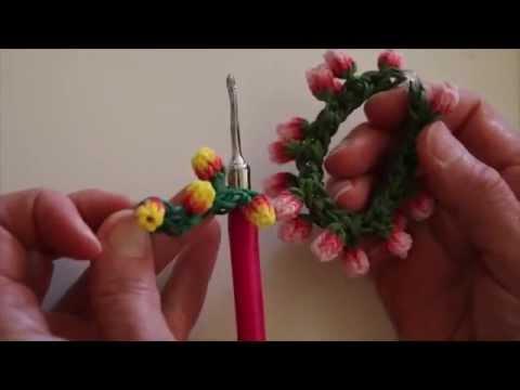 Rainbow Loom™  Monster Tail™  Rose Bud Bracelet Tutorial