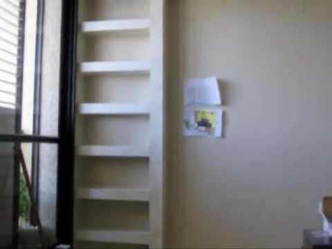 DIY - Plaster Shelves in the living room