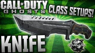 """COD: Ghosts - """"KNIFE"""" BEST KNIFE ONLY CLASS SETUPS - BEST """"ONLYUSEmeBLADE"""" Class Setups!"""