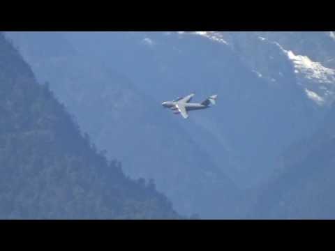 Great Long Vid Of IAF C-17 Landing At Mechuka, Arunachal