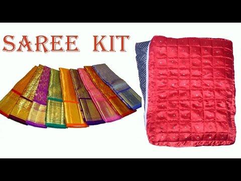 saree kit making DIY   How to make saree kit to carry your sarees very easily