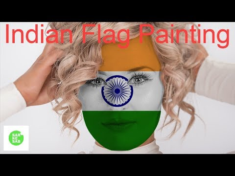 how to make indian flag in photoshop | indian flag face painting in hindi | Clipping mask Photoshop