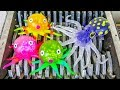 Octopus Family Shredded Sharks And Wind Up Water Toys Destroyed Whats Inside Slime Squishy Bath