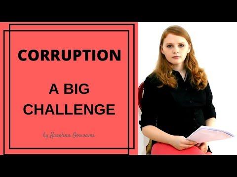 Corruption in India - Karolina Goswami