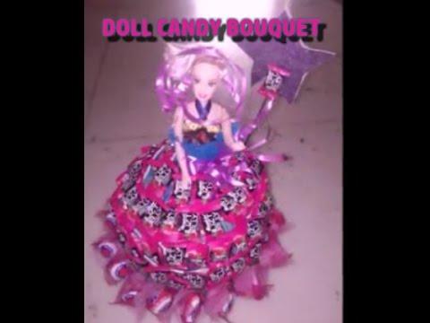 DIY :-) Make a Beautiful Doll Candy Bouquet