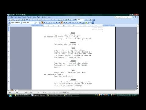 How to Use Microsoft Word for Screenwriting : Microsoft Office Software