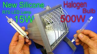 Saves Energy by replacing the old Halogen Bulb with the New Silicone r7s LED Lamp