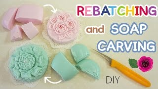 SOAP MAKING AND CARVING | Rebatching Soap | Easy | Real Sound |Long Version | ASMR | DIY|