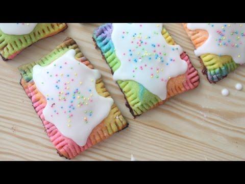 how to make rainbow poptart | homemade pop tarts puff pastry | how are poptarts made