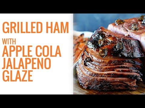 Grilled Ham with Apple Cola Jalapeno Glaze