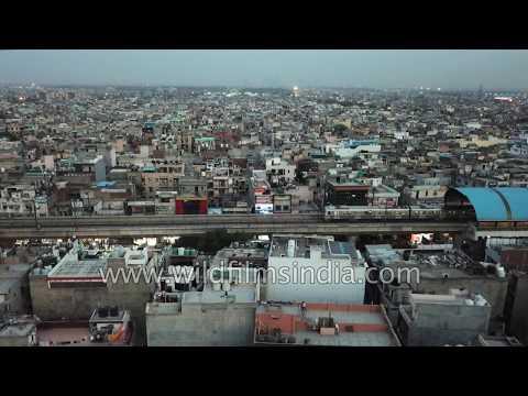 East Delhi's Laxmi Nagar after sunset : urban agglomeration on a gigantic scale