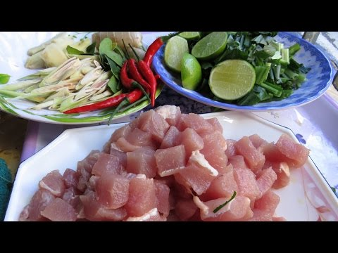 Khmer Food Cooking - How To Cook Pork With lemongrass