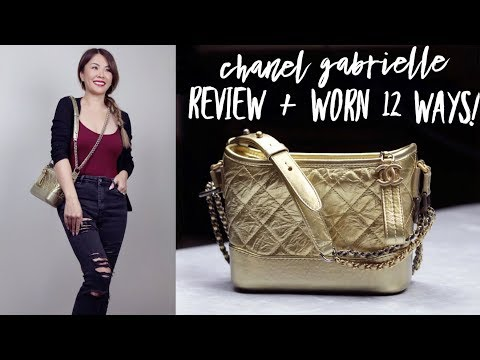 CHANEL GABRIELLE BAG REVIEW   12 WAYS TO WEAR IT   WHAT FITS   PROS & CONS