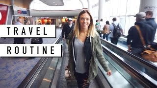 Travel Routine //Airplane Essentials: Carry On, Makeup + Outfit