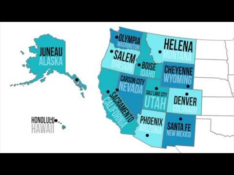 Western Capitals & States