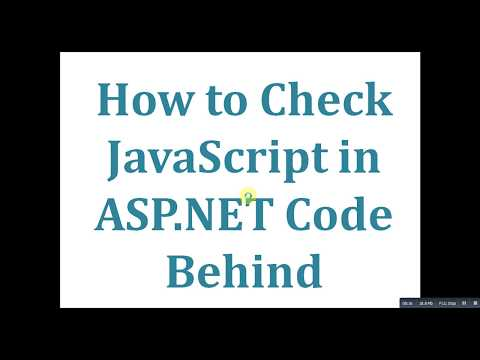 How to Check Javascript Using ASP.NET Code Behind