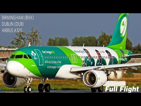Aer Lingus Full Flight | Birmingham to Dublin | Airbus A320 **with ATC**