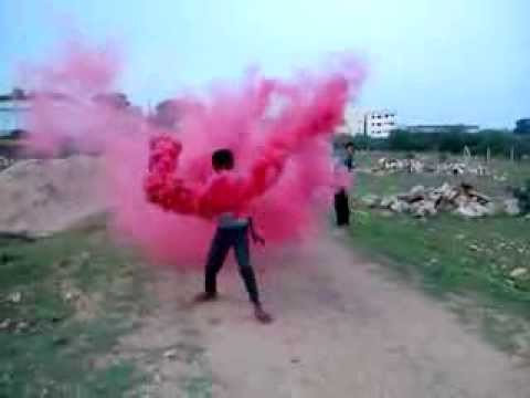 fireworks colour smoke