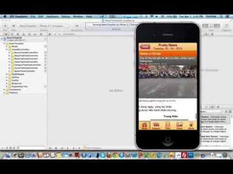News Mobile iPhone Application For iOS - Source Code For Sale
