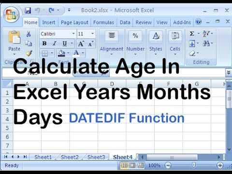 calculate age in excel years months days