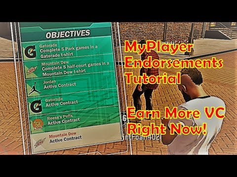 Nba2k18 MyPlayer Endorsements Full Tutorial and Guide