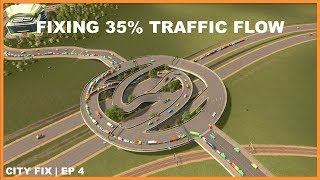 Worst Traffic Percentage Iv Ever Seen | CITY FIX | Cities Skylines
