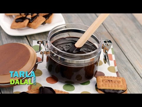 Chocolate Sauce, Quick Homemade Chocolate Sauce  by Tarla Dalal
