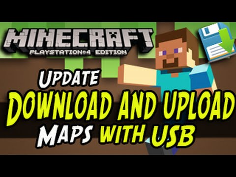 Minecraft PS4 - Download and Upload World Saves with USB! New PS4 Update!