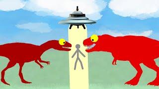 Funny Dinosaurs Cartoons: Dinosaurs and Alien - Strange Story