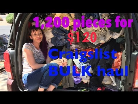 Real Life Reseller- Bulk buy Craigslist Deal- Over 1,200 pieces for $120 to sell on EBAY