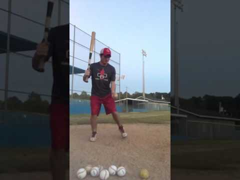 Wood bat -hitting practice