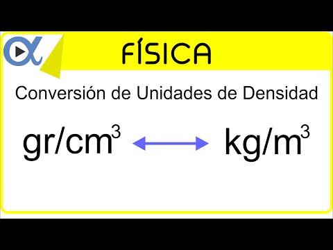 CONVERSIÓN DE UNIDADES DE DENSIDAD: gr/cm³ a kg/m³ | Física - Vitual
