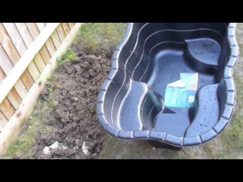 Ben starts building a pond - day1