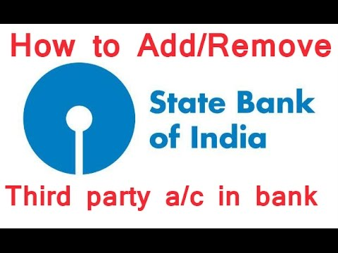 How to Add/Remove Third Party Account in SBI Online