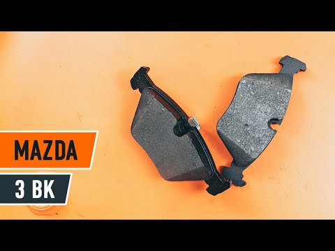 How to replace rear brake discs and brake pads MAZDA 3 BK TUTORIAL | AUTODOC